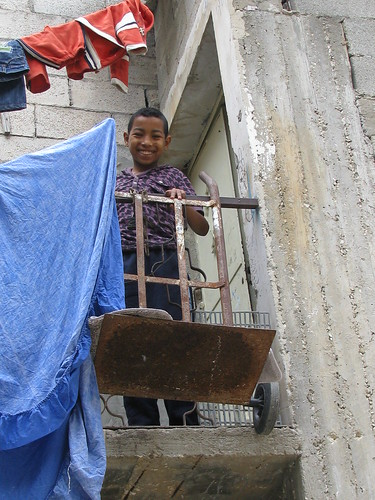 Majid on his balcony