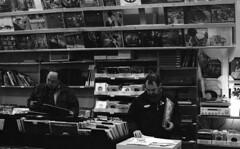 Record Store Day 4/16/2011 (Fogel's Focus) Tags: minolta evanston neopan400 rodinal 20c 125 x700 f17 2011 4001600 10min minoltamd50mm recordstoreday secondhandtunes dirtyfixer filmdev:recipe=6564