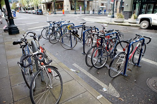 Bike Corral At Powell's Books, Near NW Entrance