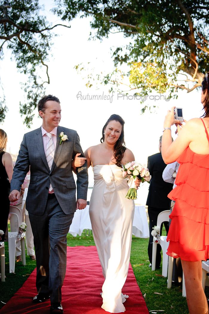 Julia & Sean's Wedding - Walking down as Husband and Wife
