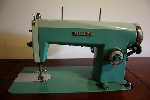 white- sewing machine