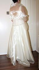 shimmer wedding prom dress (sheerglamour) Tags: leather fetish tv dress skirt satin mistress governess