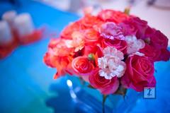 Bliss's 2011 Wedding Fair Decoration . (JAY ZHANG) Tags: blue sky orange flower beach glass beautiful hotel groom bride purple folk gorgeous decoration knife invitation card elements theme dishes blink fabulous bliss saigon planner intercontinental asiana kumho brillant marcom jayzhang elegane