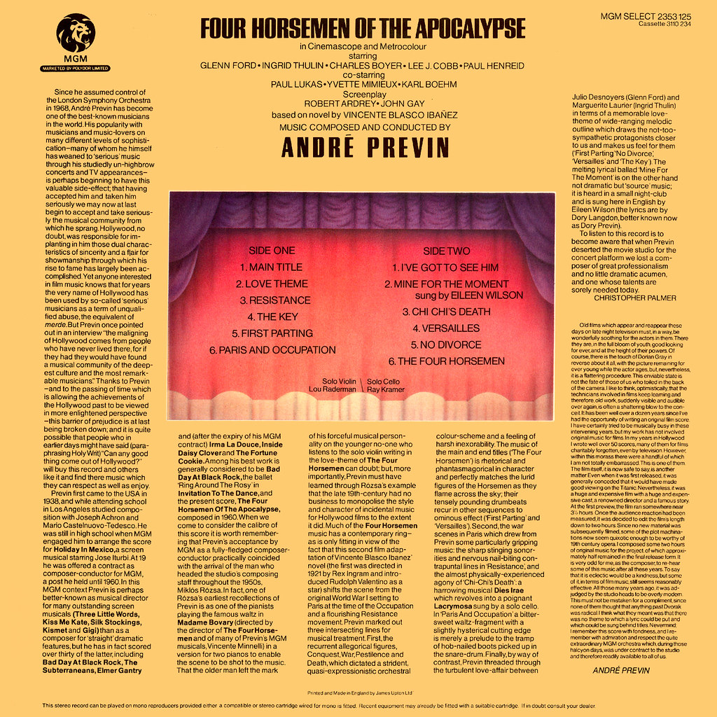 André Previn - The 4 Horsemen of the Apocalypse