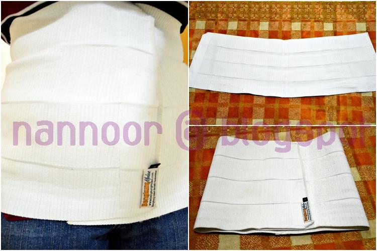 Bengkung moden (BM) ni bentuk v shape sikit, ada jenis kain velcro.