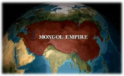 图:蒙古帝国疆域,当时的中国成了蒙古的一个地区