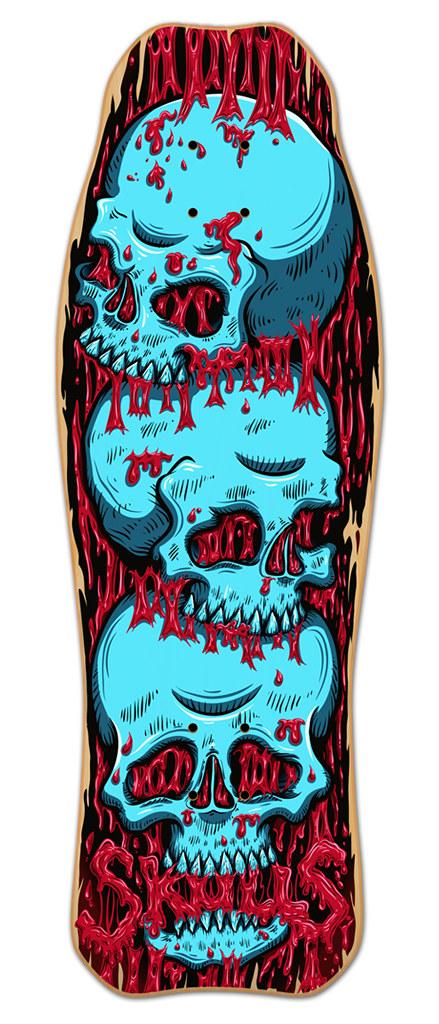 Hamerhead Skulls- Skateboard deck