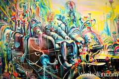 """Artist Michael Page """"into Passing"""" opening at Shooting Gallery, SF - Warholian (WarholianPics) Tags: art mike colors painting michael artist photos michelle page interview fleck warholian cuffe warholiancom"""