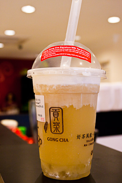 Signature Green Milk Tea With White Pearls