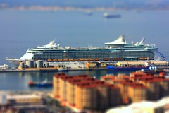 Independence tilt shift (mikey9t8t3) Tags: boat spain dof royalcaribbean gibralter tiltshift independenceoftheseas