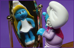 Wishful thinking (Rigib) Tags: old blue grandma canon toy mirror miniature character young figure 60mm wishfulthinking granny smurfs schlumpf pitufo smurfette remembering jakks schlmpfe schtroumpf peyo tobeyoungagain smurfvillage puffo lens00025 f320 img4607    365toyproject moulov sanafer ourdailychallenge nannysmurf