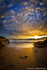 Spyglass Sunset (Silent G Photography) Tags: california ca sunset landscape raw fisheye explore pismobeach sanluisobispo shellbeach spyglass explored singleraw nikkor105mmf28fisheye nikond7000 markgvazdinskas silentgphotography