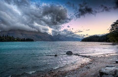 As The Dawn Breaks - (HDR Queenstown, New Zealand) (blame_the_monkey) Tags: travel newzealand photoshop sunrise landscape dawn early photo nikon tripod wideangle pic nz blended queenstown nik remarkables digitalphoto hdr highdynamicrange d3 hdri lakewakatipu blend topaz photoshopeffect postprocessing travelphotography travelphoto photomatix digitalblending tonemapped tonemapping 1424 hdrphoto niksoftware detailenhancer d700 topazadjust blamethemonkey elilocardi elialocardi