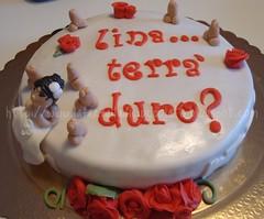 Torta Addio al Nubilato (lauradistefano84) Tags: cakes rose cake rosa cioccolato sposa torte addio fondant personaggi addioalnubilato pdz spose nubilato sposina pastadizucchero