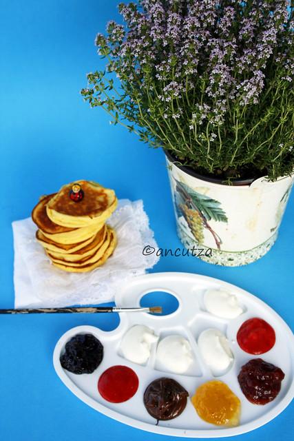 Pancakes alla ricotta -papanasi cu branza