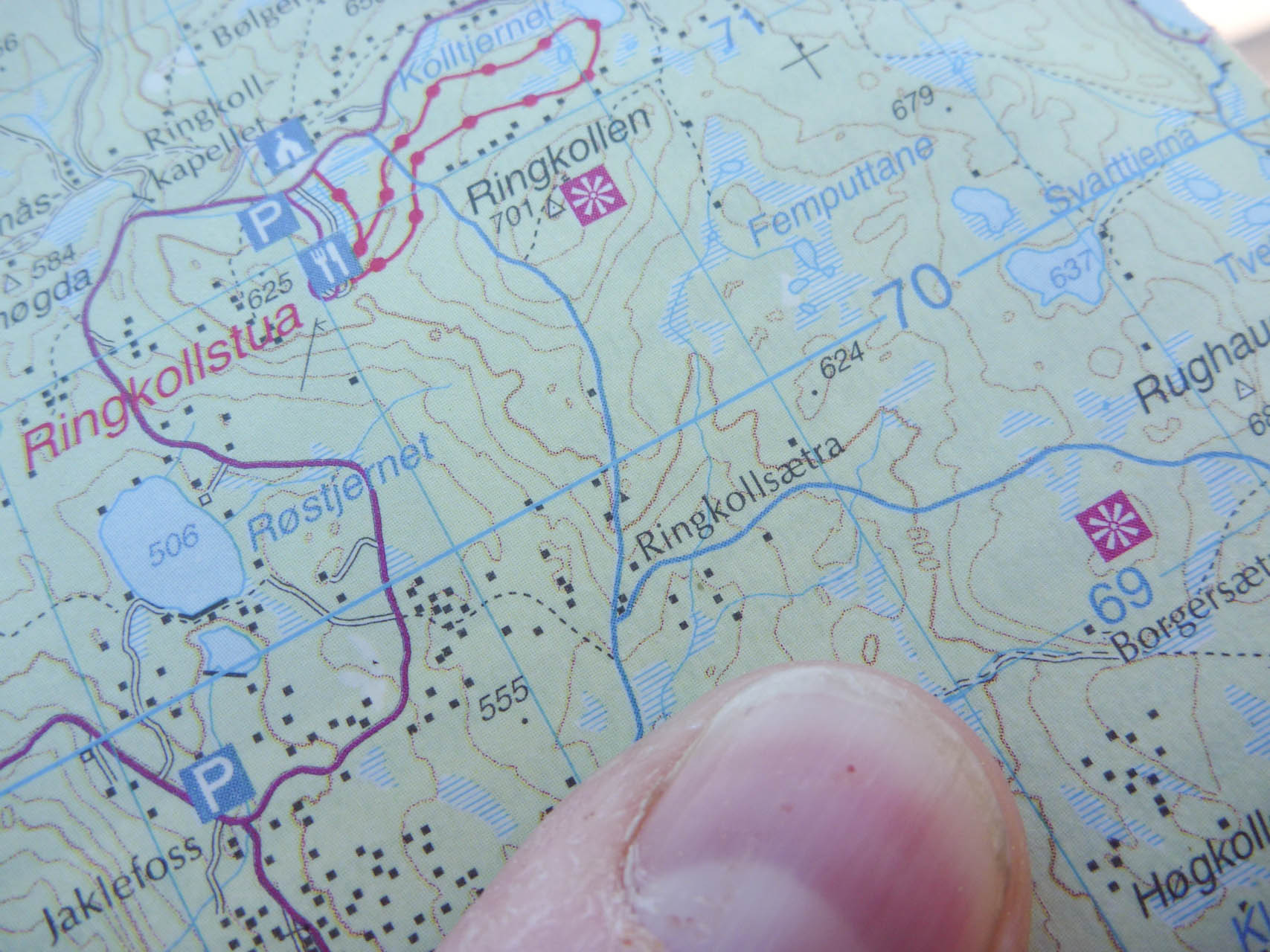 Kart over Krokskogen
