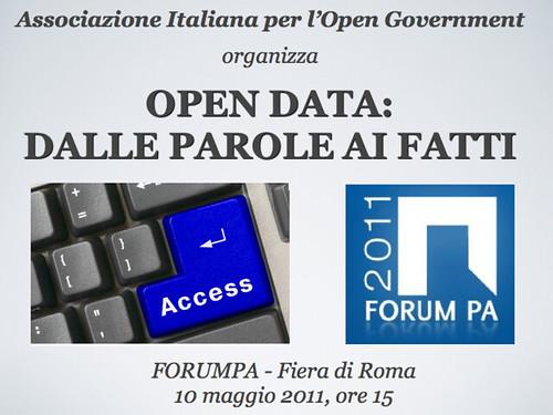 Associazione Italiana per l'Open Government a FORUMPA2011