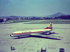 Salzburg July 1974 Sterling Caravelle OY-SBW (Proplinerman) Tags: salzburg aircraft sterling airliner jetliner caravelle se210 oysbw