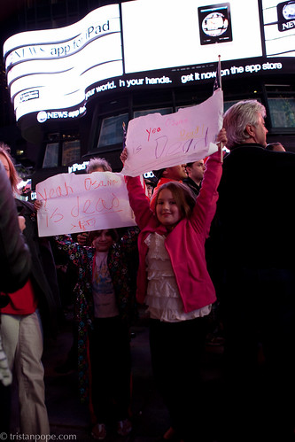 times of osama bin laden. NYC Times Square Osama Bin