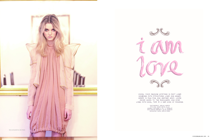 """I am love"" Editorial in Status Magazine"