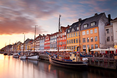 Sunset on Nyhavn (benjeev) Tags: sunset summer copenhagen denmark boats nyhavn long exposure pastel canals colourful scandinavia bold brightcolours canalhouses hygge fastclouds flickraward pprowinner flickraward5 flickrawardgallery pca153 benjeev