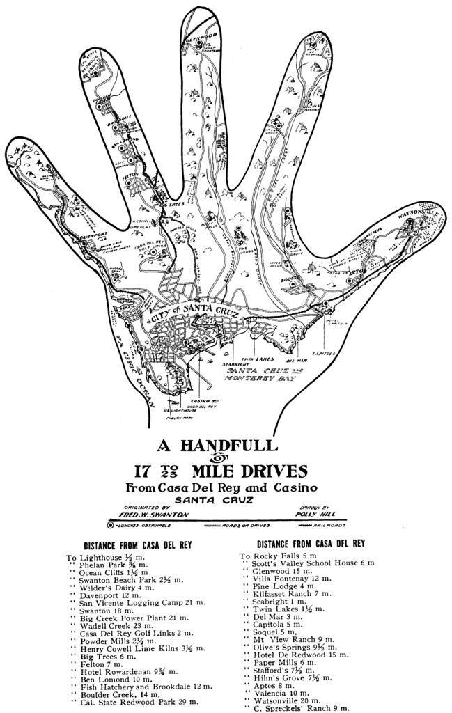 santa cruz hand map