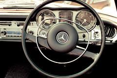 Mercedes Benz 280 SL Automatic (Wil Wardle) Tags: wil wheel canon photography mercedes benz kent photographer cockpit william retro sl nostalgia automatic nostalgic f28 steeringwheel 280 tenterden wineestate wardle retrofeeling chapeldown worldcars canonef2470mm 5dmk2 ebphoto