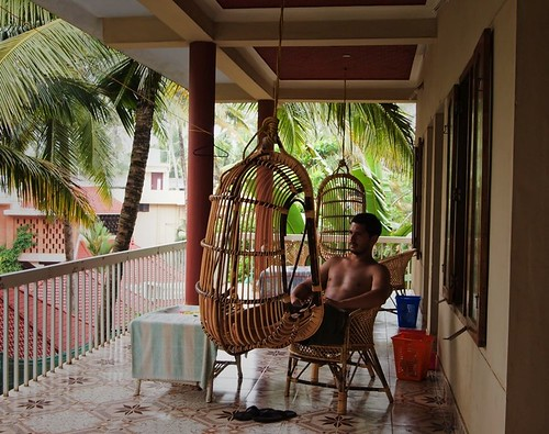 El Mr. de relax en el hostal