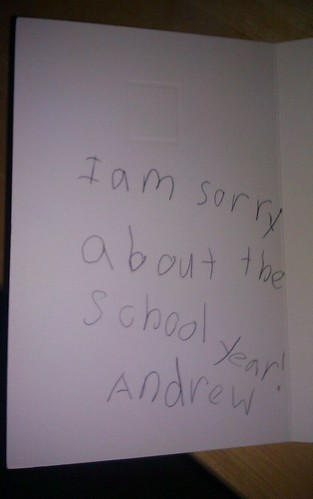 I am sorry about the school year! Andrew
