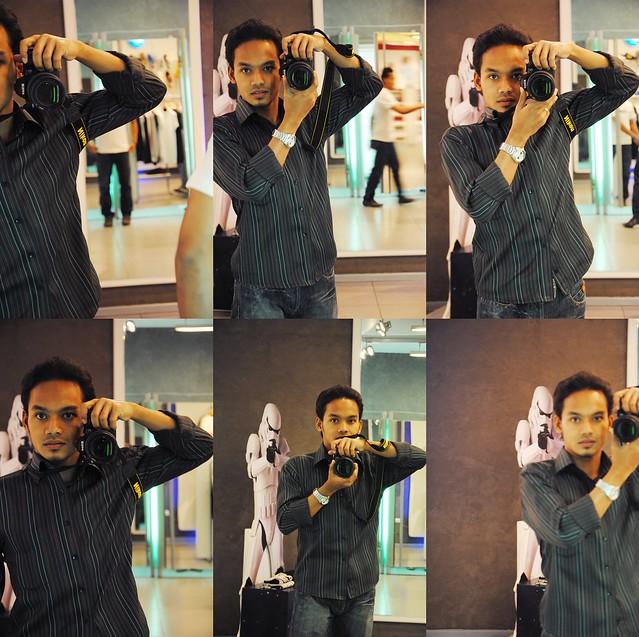 me, mirror & camera