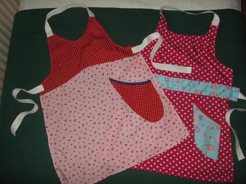 Two mini aprons