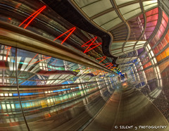 From C to B (Silent G Photography) Tags: chicago photography illinois airport il fisheye hdr highdynamicrange movingsidewalk lightroom ohareinternationalairport photomatix nikkor105mmf28fisheye highdynamicrangephotography nikond7000 markgvazdinskas silentgphotography