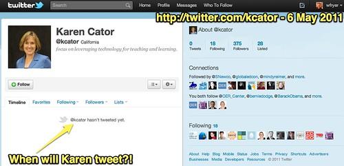 Karen Cator (kcator) on Twitter