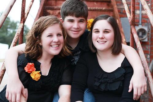 Caitlin, Allison and Scott