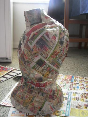 Paper mache layer