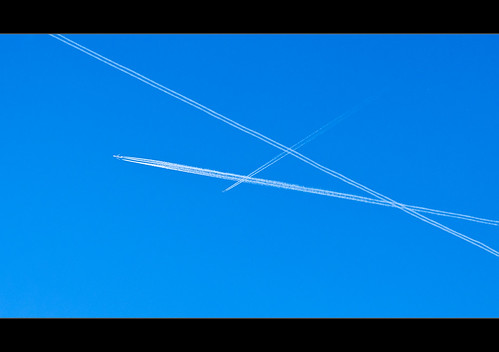 White lines and blue sky. by Ianmoran1970
