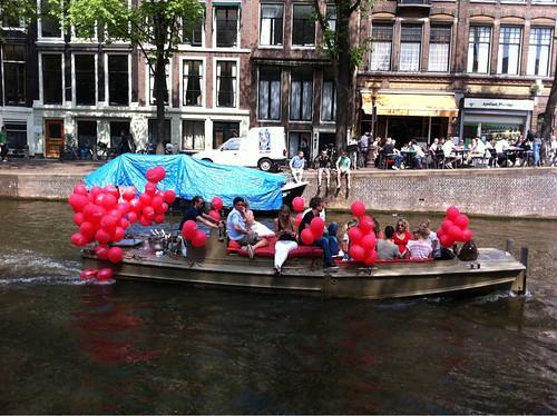 Bedrukte Heliumballonnen Amsterdamse Grachten