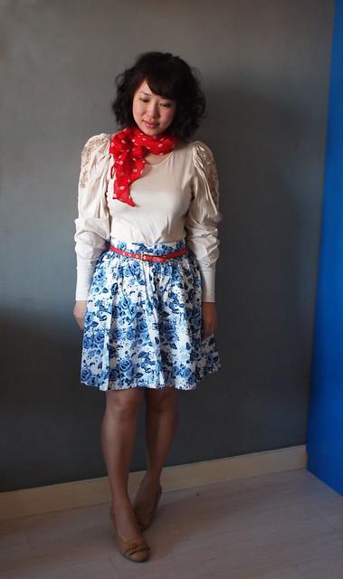 H&M Polka dot scarf