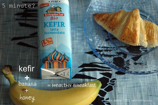 kefir+banana=good!