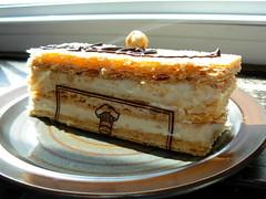 Napoleon from Alice Bakery, North Wales, PA (Nutmeg Designs) Tags: japan plate pa napoleon hazelnut stoneware koyo kasuga bolero northwales frenchpastry alicebakery