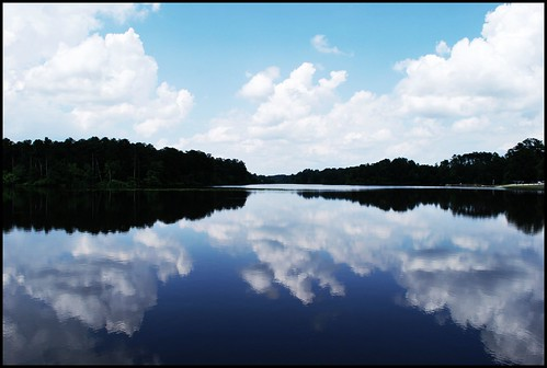 rim lake reflections