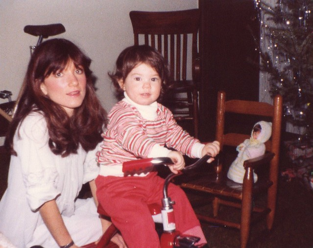 Mom & Jamie - Christmas 1980