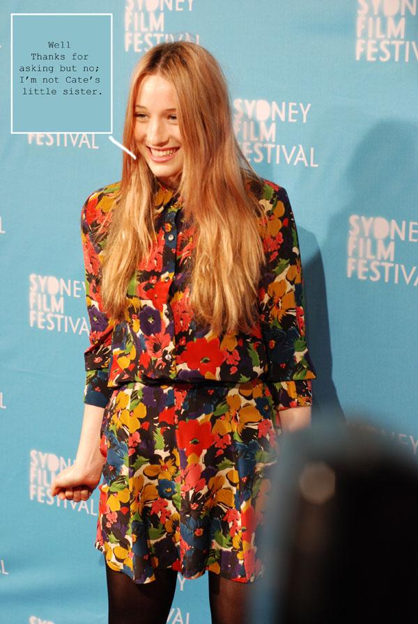 Sophie Lowe, Floral Dress Sydney Film Festival G