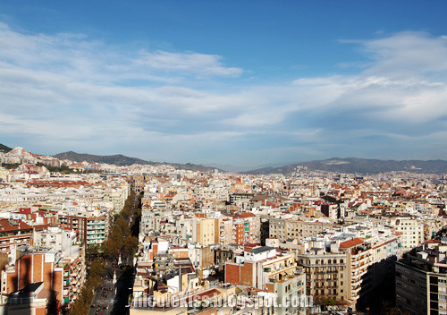 barcelona city from sagrada familia