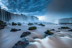 Iguazu at dawn. (baddoguy) Tags: longexposure morning brazil cloud southamerica water dawn waterfall landmark iguazu
