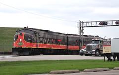 Traffic Stopper (The Mastadon) Tags: road railroad chicago heritage train illinois midwest rail railway trains transportation locomotive oddball railroads chicagoland midwestern