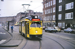 Once upon a time - The Netherlands - Amsterdam (railasia) Tags: holland noordholland amsterdam gvb htm pcc excursion infra tramstop eighties