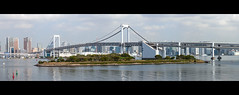(MichaWha) Tags: minatoku tkyto japon michaelflocco canoneos6d 70200mmf4lusm tokyo odaiba bridge rainbowbridge panorama city japan