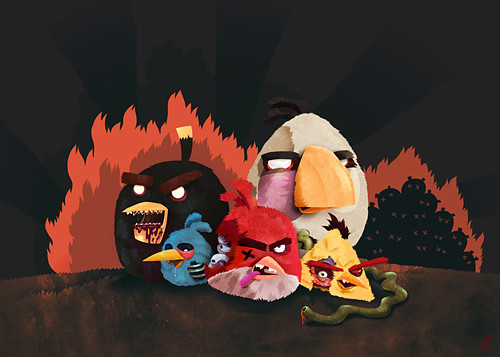 Angry Zombie Birds Character