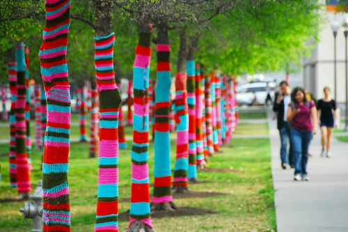 Knitted Wonderland at the Blanton Museum of Art
